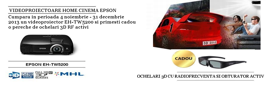 Videoproiector Espson 3D eh tw5200 cadou ochelari 3D